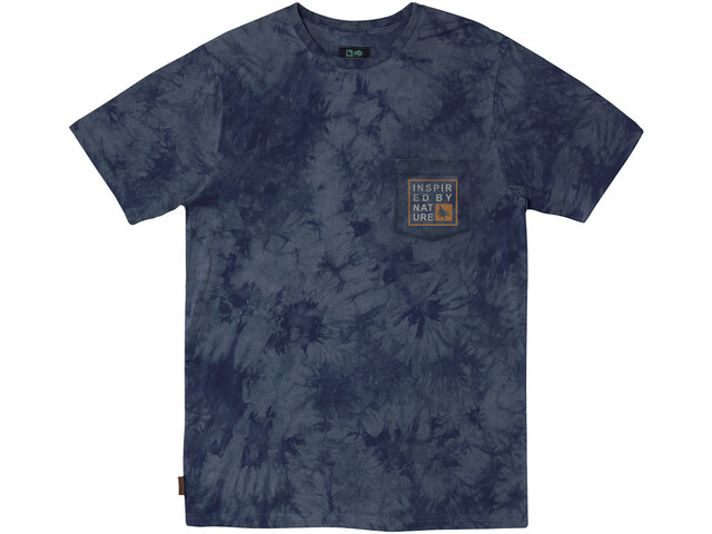 Hippy Tree Windbreak Cloud Wash T-Shirt Men, navy